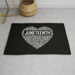 Juneteenth Heart Rug