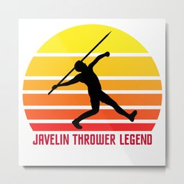 Javelin Thrower Legend Gift T-Shirt Metal Print