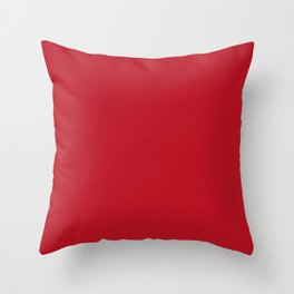 Red Carpet Solid Summer Party Color Throw Pillow