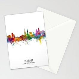 Belfast Northern Ireland Skyline Stationery Cards