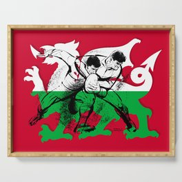 Welsh Rugby by PPereyra Serving Tray