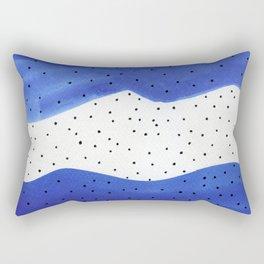 Bright blue Rectangular Pillow