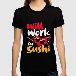 Sushi Kawaii Work Maki Rice Nigiri Japanese Food T-shirt