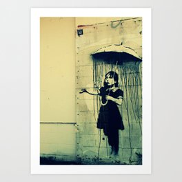 Umbrella Girl, Banksy Art Print
