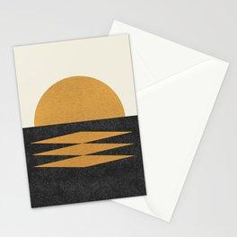 Sunset Geometric Midcentury style Stationery Cards