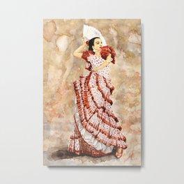 Spanish Flamenco Dancer Metal Print