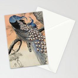 Couple of Peacoks Stationery Cards