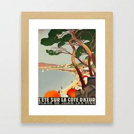 Vintage poster - Cote D'Azur, France Gerahmter Kunstdruck