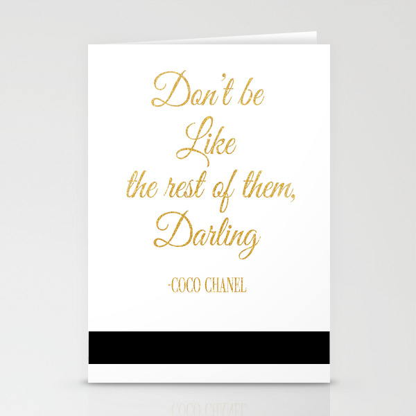 Don't Be Like The Rest Of Them Darling Stationery Cards by Nikolajovanovic CRD7769244