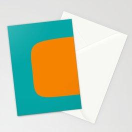 Clarity - Orange and Turquoise Minimalist Stationery Cards