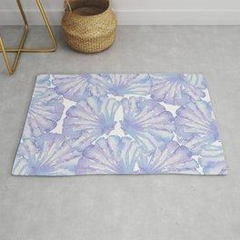 Shell Ya Later - Purple Seashell Pattern Rug