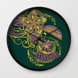 Hana Maui Tribal Threads Wall Clock