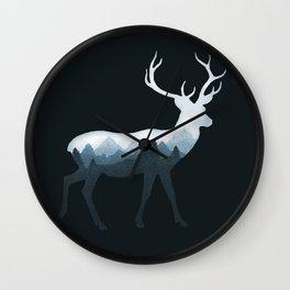 Deer Roe Fawn Elk Moose Double Exposure Surreal Wildlife Animal Wall Clock