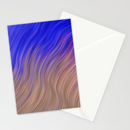 stripes wave pattern 2 with lines vmagi Stationery Cards