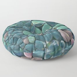 green glass stones pattern Floor Pillow