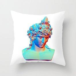 Bust of Antinous as Dionysus Throw Pillow