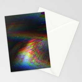 Rainbow Glitch Stain Stationery Cards