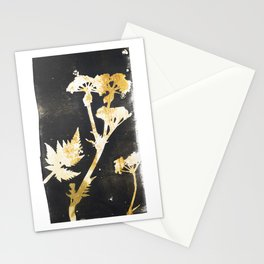 Wild flowers Ocker - botanical artworks Stationery Cards