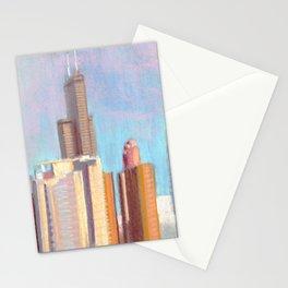 October Sunset: Chicago Skyline Stationery Cards