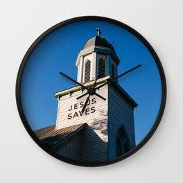Jesus Saves Charleston II Wall Clock