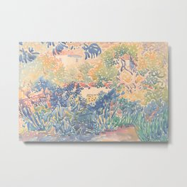 The Artist's Garden at Saint-Clair by Henri-Edmond Cross 1904-5, French Metal Print