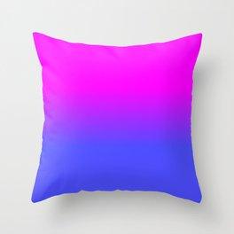 Neon Blue and Hot Pink Ombré Shade Color Fade Deko-Kissen