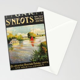 Railwayposter St Neots Stationery Cards