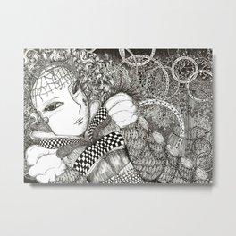 Carnival lady Metal Print