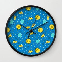 Happy Sky -  sleepy Sun Wall Clock