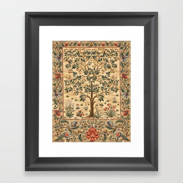 """William Morris """"Tree of life"""" 3. Gerahmter Kunstdruck"""