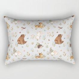 Blue Meadow Rectangular Pillow