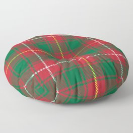 Christmas Green and Red Classical Plaid Pattern Floor Pillow