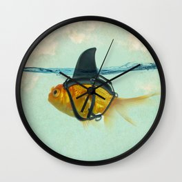 Brilliant DISGUISE - Goldfish with a Shark Fin Wall Clock