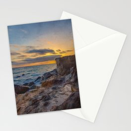 Rocky Shores | Oil Painting  Stationery Cards