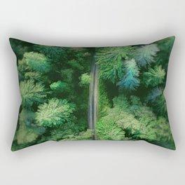 Arial Arboreal Rectangular Pillow