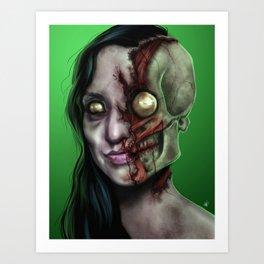 Zombified Art Print
