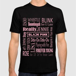 Black pink collage T-shirt
