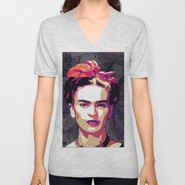 The Face of Frida Unisex V-Neck