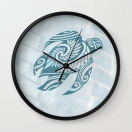 Hawaiian Tribal Turtle Wall Clock
