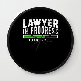 Lawyer In Progress Please Wait Wall Clock