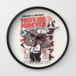 Pacts Are Forever Wall Clock