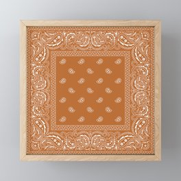Bandana - Boho Carmel  Framed Mini Art Print