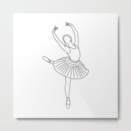 ballet dancer - fine line Metal Print
