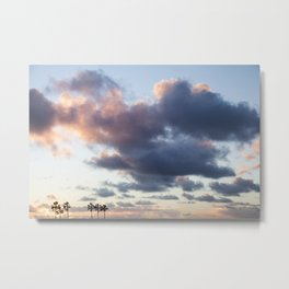 Cotton Candy Palms Metal Print