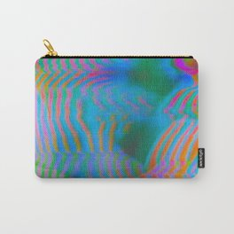 Analogue Glitch Electric Gradient Waves Carry-All Pouch