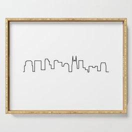 Nashville, TN City Skyline Serving Tray
