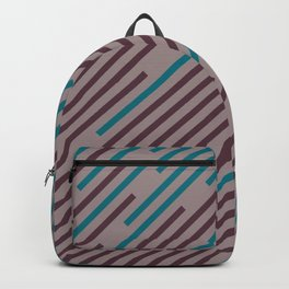 Purple Pink-Purple Aqua Diagonal Line Pattern 2021 Color of the Year Epoch and Accent Shades Backpack