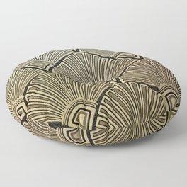 Golden Art Deco pattern Floor Pillow