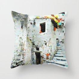 Glimpse with staircase Throw Pillow