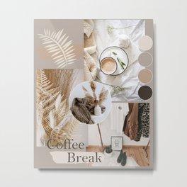 Coffee aesthetic mood board Metal Print